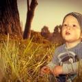 Gyermekfotózás a szabadban